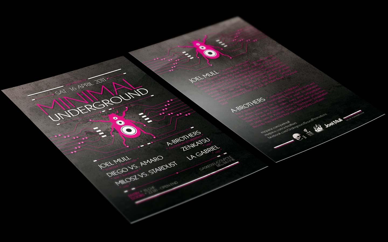 USP - Minimal Underground V - Laurent Lemoigne - Donanubis - Don Anubis - Graphic Design - Underground Sound Promotion - Coupole - Bienne - Art - Music - Electronic - Party - Event - Flyer - Poster - Techno - Minimal - Electro - Alternative - Underground - Geneva - Switzerland - Joel Mull / Truesoul / Drumcode - A-Brothers / Nachtstorm Schalplatten - Diego VS Amaro / Kanzleramt - Milosz - Stardust - Zenkatsu - La Gabriel
