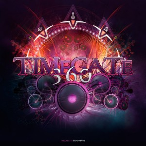 TimeGate 360 Flyer - Laurent Lemoigne - Donanubis - Don Anubis - Graphic Design - Biolive - Switzerland - Psytrance - Psy - Psychedelic - Trance - Party - Festival - Event