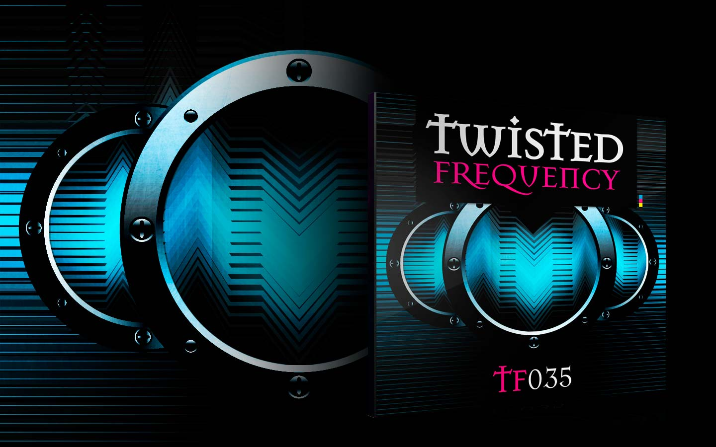 Twisted Frequency - CD Cover - Laurent Lemoigne - Donanubis - Don Anubis - Graphic Design - Record Label - Techno - Minimal - House - UK