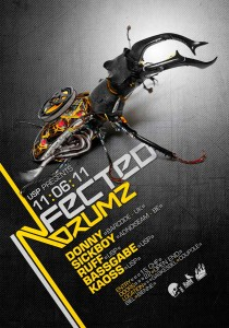 USP -Infected Drumz V - Laurent Lemoigne - Donanubis - Don Anubis - Graphic Design - Flyer - Underground Sound Promotion - Coupole - Bienne - Art - Music - Electronic - Party - Event - Flyer - Poster - Industrial - Dark - Insect - Infectious - Infected - Mechanic - Biomechanic - Biomechanik - Biomechanical - Giger - Alternative - Underground - Geneva - Switzerland - Drum and Bass - d'n'b - Hard Drum - Donny / BArcode - Sickboy / Adnoiseeam - Ruff - Bassgabe - Kaoss