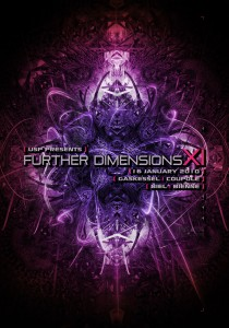 USP - Further Dimensions XI - Laurent Lemoigne - Donanubis - Don Anubis - Graphic Design - Underground Sound Promotion - Coupole - Bienne - Art - Music - Electronic - Party - Event - Flyer - Poster Alternative - Underground - Geneva - Switzerland - Dark Psytrance - Darkpsy - Trance - Fractal - 3d - Psychedelic - LSD - Hoffman - Jun / Phreex - Ankur / Seres Music - Nodweisz / OSF - Milosz - Stardust - Zenkatsu