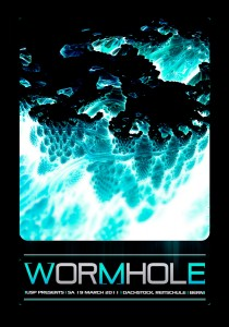 USP - Worm Hole - Laurent Lemoigne - Donanubis - Don Anubis - Graphic Design - Underground Sound Promotion - Dachstock - Reitschule - Bern - Art - Music - Electronic - Party - Event - Flyer - Poster Alternative - Underground - Geneva - Switzerland - Dark Psytrance - Darkpsy - Trance - Fractal - 3d - Psychedelic - LSD - Hoffman - Drum and Bass - DNB - Industrial - Kraft / Insomnia - Acab - Ghost Experience - Milosz - Stardust - Zenkatsu - Ruff - Dusky - Bassgabe
