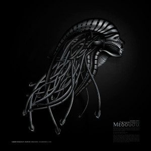 Biomechanoid Medusa - Laurent Lemoigne - Donanubis - Don Anubis - Graphic Art - Digital Art - Geneva - Switzerland - Surreal - Conceptual -People - Dark - Fantasy - Beauty - Woman - Steel - Metal - Snake - Medusa - Gorgon - Mythology - Mechanic - Biomechanic - Biomechanik - Giger