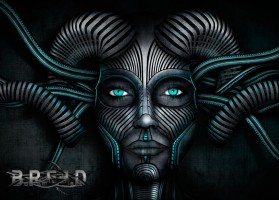B.R.E.E.D - Laurent Lemoigne - Donanubis - Don Anubis - Graphic Art - Illustration - Graphic Design - Logo Design - BREED - Dj Nasha - India - Art - Music - Electronic - Party - Event - DJ - Producer - Artist - Dubstep - Dub Step - Skrillex - Biomechanic - Biomechanik - Biomechanoid - Giger - Man - Machine - Mask - Tron - Alternative - Underground - Geneva - Switzerland