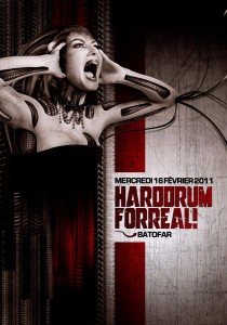 Hard Drum For Real - Laurent Lemoigne - Donanubis - Don Anubis - Graphic Design - Flyer - Matozoides - Batofar - Paris - Art - Music - Electronic - Party - Event - Flyer - Poster - Industrial - Dark - Woman - Beautiful - Scream - Alienate - Biomechanic - Biomechanik - Giger - Alternative - Underground - Geneva - Switzerland - Drum and Bass - d'n'b - Dubstep - Hard Drum - Breakcore - Forbidden Society / Jungle Therapy / Obscene / Mindsaw - Jahbass / Matozoides - AK47 / Party Uniq - Sheerday / Basswars - Fred Mato / Matozoides / DTC Records / 4real