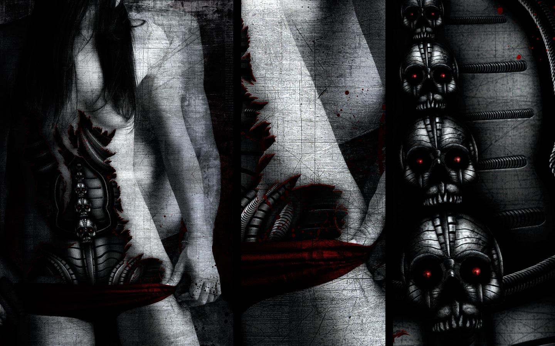 Modern Society - Laurent Lemoigne - Donanubis - Don Anubis - Graphic Art - Digital Art - Geneva - Switzerland - Surreal - Conceptual -People - Dark - Fantasy - Beauty - Woman - Fetish - Goth - Gothic - Steel - Skull - Breast - Nipple - Nude - Mechanic - Biomechanic - Biomechanik - Biomechanical - Biomechanoid - Giger - Computer - Technology - Death - Life - Love - Metal - Hard - Rock - Death - Band - CD Cover - Metal - Hard - Rock - Death - Band - Illustration