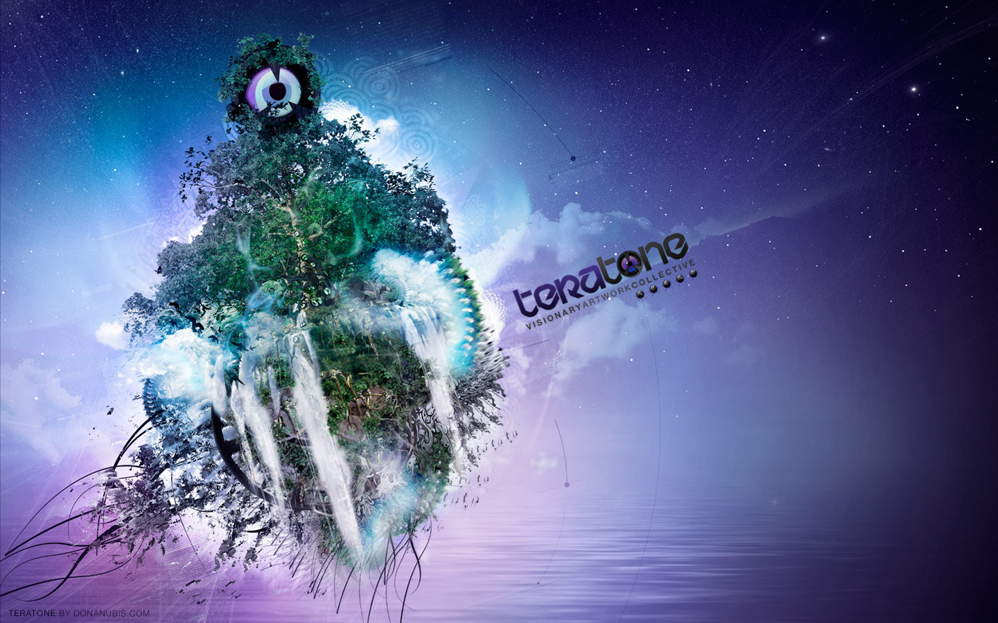 Teratone - Visionary Art Collective - Laurent Lemoigne - Donanubis - Don Anubis - Graphic Art - Graphic Design - Logo Design - Flyer - CSS Website Template - Geneva - Switzerland - Art - Music - Electronic - Party - Event - Floating Island - Waterfall - Tree - Speaker - Decay - Time - Elapsed - Fractal - Psychedelic - Hallucinogen - Avatar - Alternative - Underground - Psytrance - Dark Psytrance - Darkpsy - Trance - Goa - DJ - VJ