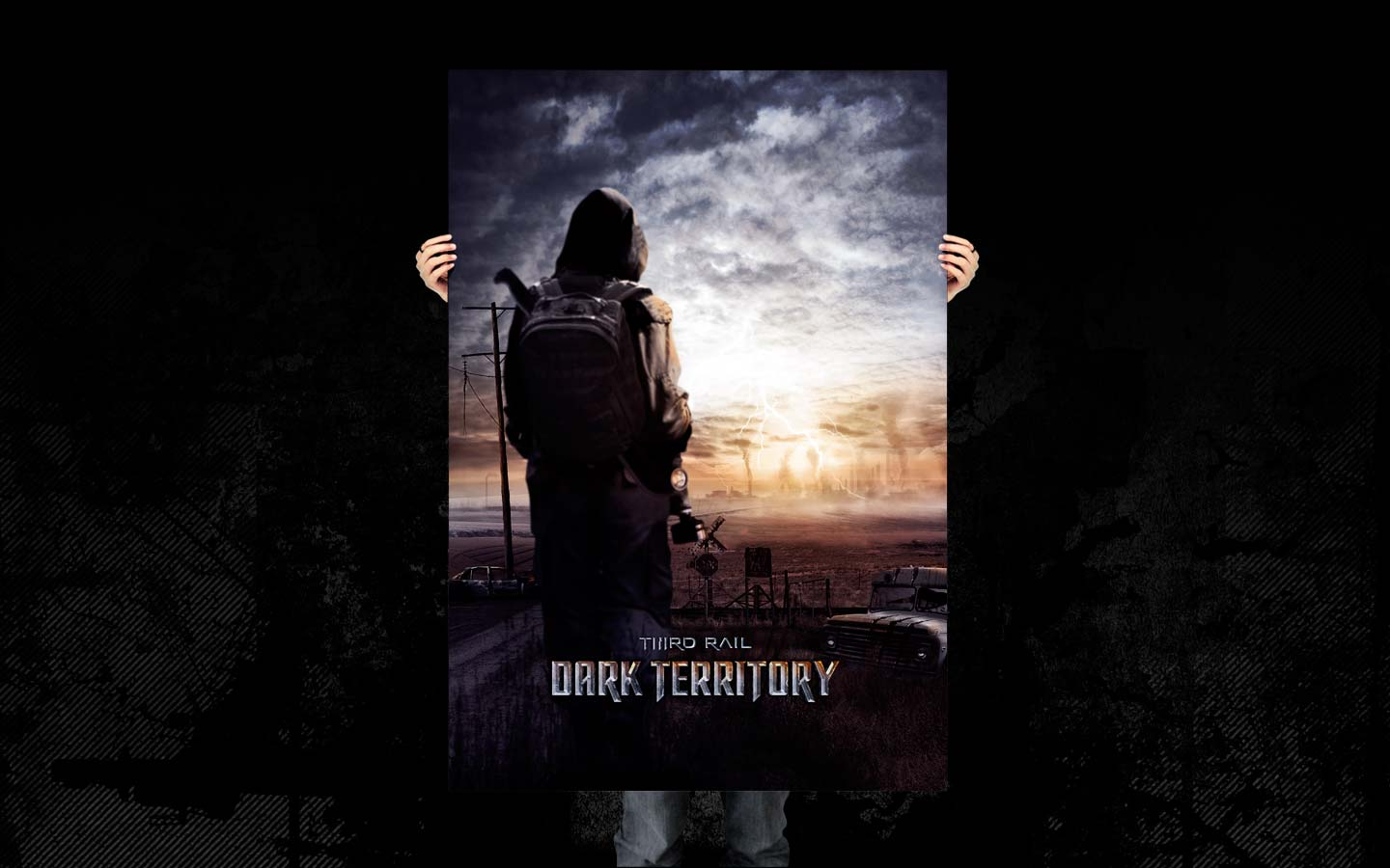 Third Rail - Dark Territory -  Laurent Lemoigne - Donanubis - Don Anubis - Graphic Design - Illustration - Digital Art - DVD Cover - Dos Brain - California - US - Art - Music - Electronic - Cinema - Movie - Trailer - Movie trailer - Poster - Man - Machine - Factory - Industrial - Dark - NIN - Prometheus - I am a Legend - Book of Eli -  Gazmask - Gas Mask -  End of the World - Doomsday - Post Apocalyptic - Alternative - Underground - Geneva - Switzerland